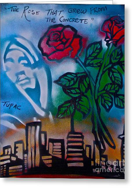 First Amendment Greeting Cards - The Rose From The Concrete Greeting Card by Tony B Conscious