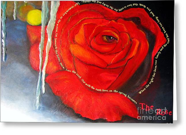 Magissimo Greeting Cards - The Rose Greeting Card by Maria Watt