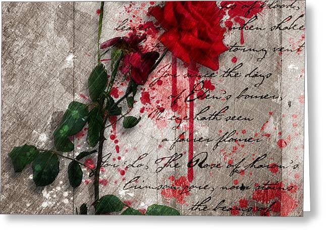 The Rose Of Sharon Greeting Card by Gary Bodnar