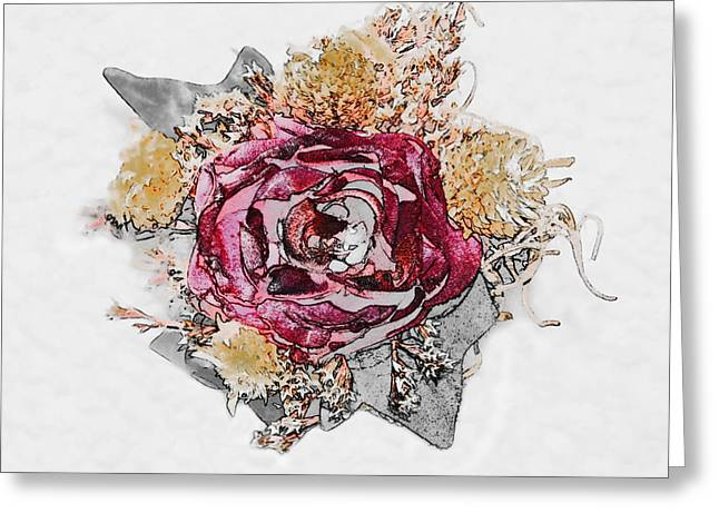 The Rose Greeting Card by Susan Leggett