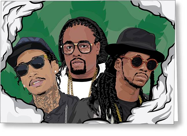 Hip Hop. Rnb Greeting Cards - The Rotation Greeting Card by Tecnificent