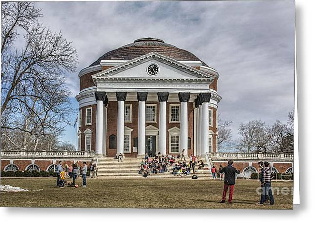Terry Rowe Greeting Cards - The University of Virginia Rotunda Greeting Card by Terry Rowe