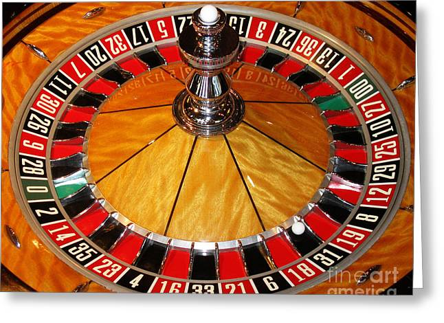 Roulettes Greeting Cards - The Roulette Wheel Greeting Card by Tom Conway