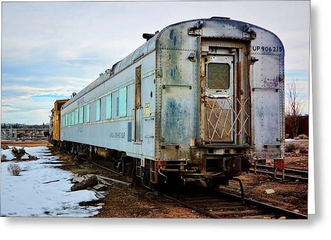 Evanston Greeting Cards - The Roundhouse Evanston Wyoming Dining Car - 1 Greeting Card by Ely Arsha