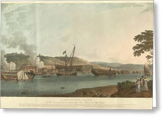 The Royal Dockyard At Chatham Greeting Card by British Library