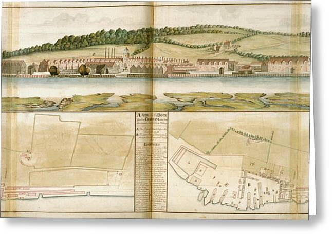 The Royal Dockyard Greeting Card by British Library