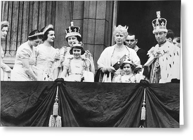 Family Buckingham Palace Greeting Cards - The Royal Family Greeting Card by Underwood Archives