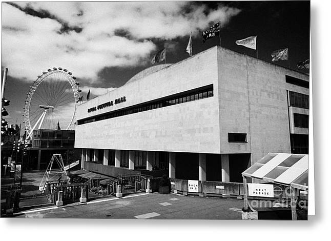 Royal Art Greeting Cards - The Royal Festival Hall London England UK Greeting Card by Joe Fox