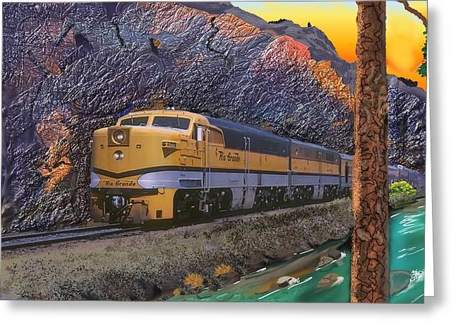 Alco Greeting Cards - The Royal Gorge Greeting Card by J Griff Griffin