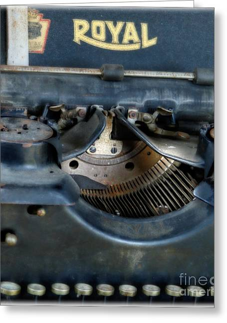 Antique Typewriter Greeting Cards - The Royal Inkwell  Greeting Card by Steven  Digman