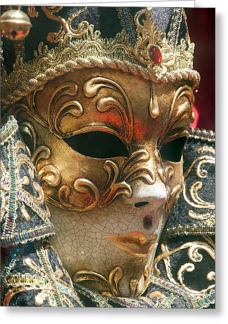 City Art Greeting Cards - The Royal Mask Greeting Card by Adrian Alford
