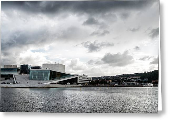 Oslo Greeting Cards - The Royal National Opera House in Oslo Norway Greeting Card by Frank Bach