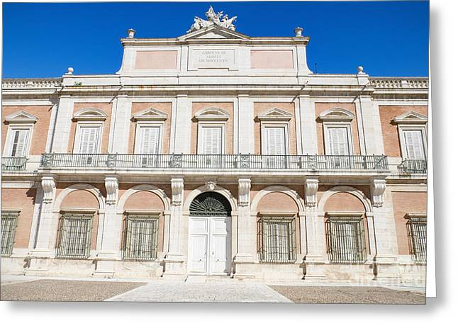 Town Square Greeting Cards - The Royal palace of Aranjuez Madrid Spain Greeting Card by David Herraez