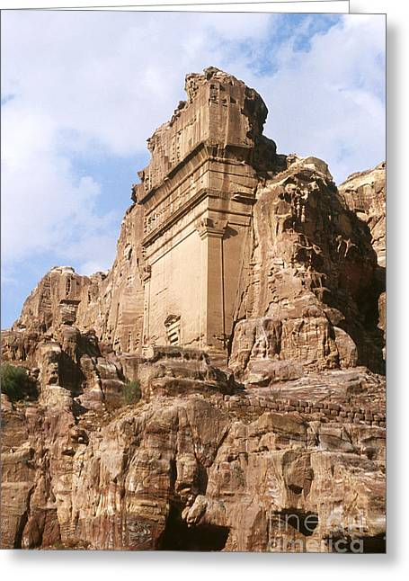 Jordan Greeting Cards - The Royal Tombs, Petra Greeting Card by Catherine Ursillo