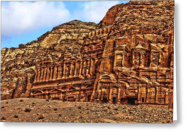 Petra Greeting Cards - The Royal Tombs Greeting Card by Vladimir Rayzman