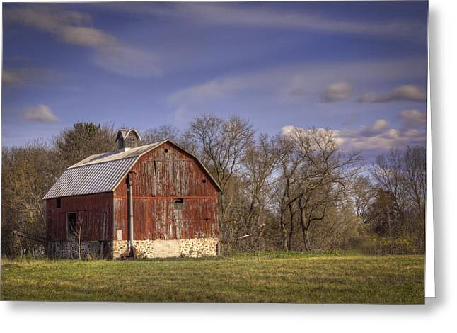 Wisconsin Barn Greeting Cards - The Royalton Farm Greeting Card by Thomas Young