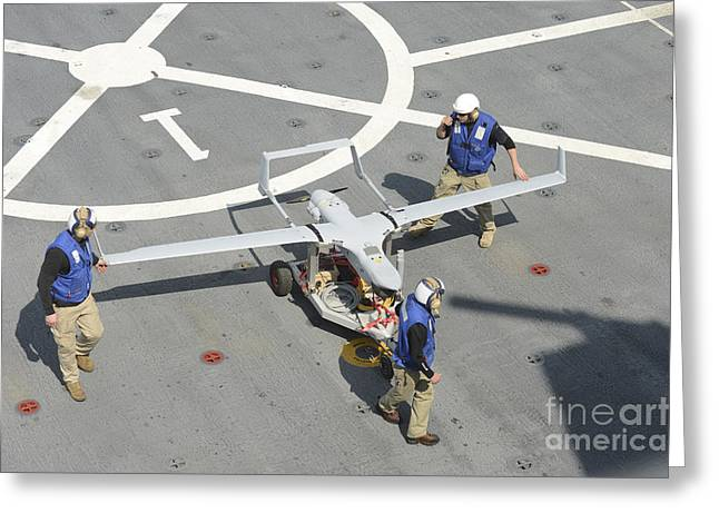 Gulf Team Greeting Cards - The Rq-21a Small Tactical Unmanned Air Greeting Card by Stocktrek Images
