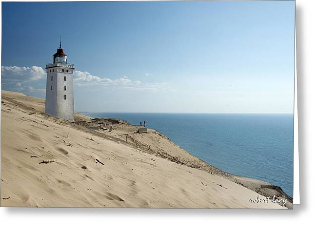 Jutland Greeting Cards - The Rubjerg Lighthouse Greeting Card by Robert Lacy