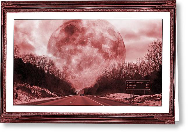 Mystical Landscape Mixed Media Greeting Cards - The Ruby Road  Greeting Card by Betsy C  Knapp