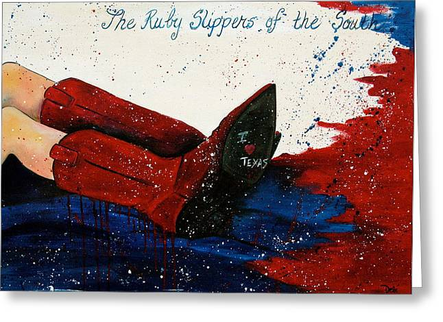 Auction Greeting Cards - The Ruby Slippers of the South Greeting Card by Debi Starr