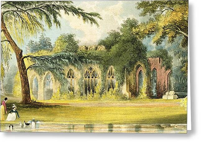 Lake House Drawings Greeting Cards - The Ruins   Frogmore Greeting Card by John Gendall