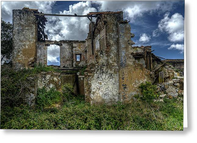 Old House Photographs Greeting Cards - The Ruins Greeting Card by Marco Oliveira