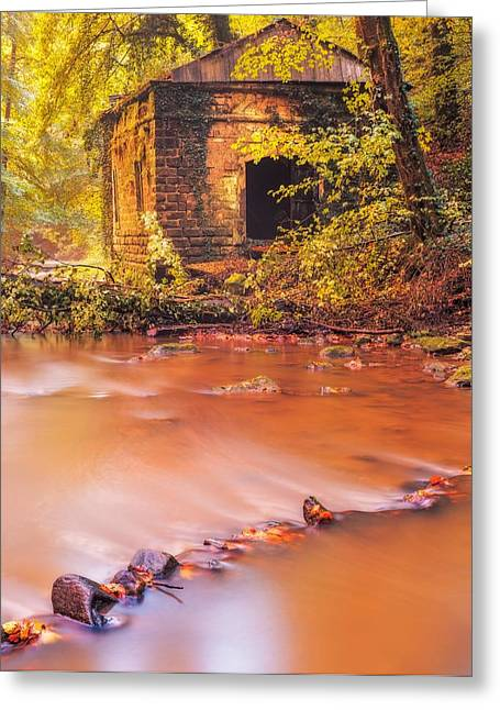 Old Mills Photographs Greeting Cards - The ruins of an Old Mill Greeting Card by Maciej Markiewicz