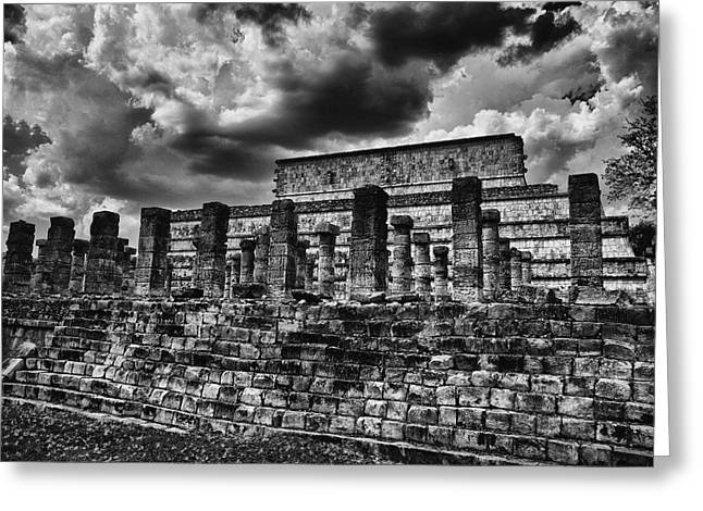 Chichen Itza Greeting Cards - The Ruins of Chichen Itza Greeting Card by Douglas Barnard
