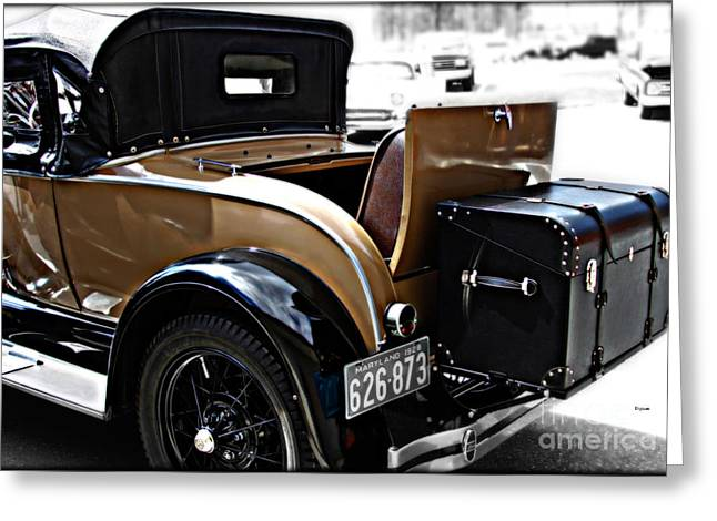 Rumble Greeting Cards - The Rumble Seat  Greeting Card by Steven  Digman