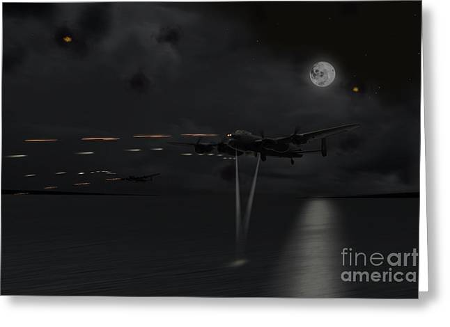 617 Squadron Greeting Cards - The Run In  Greeting Card by J Biggadike