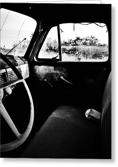 Old Trucks Greeting Cards - The Runaway  Greeting Card by Jerry Cordeiro