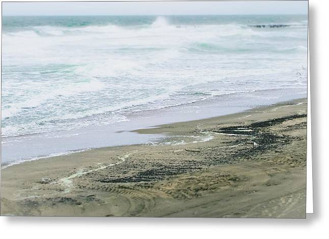 Sandy Beaches Greeting Cards - The Rush of the Waves Greeting Card by Colleen Kammerer