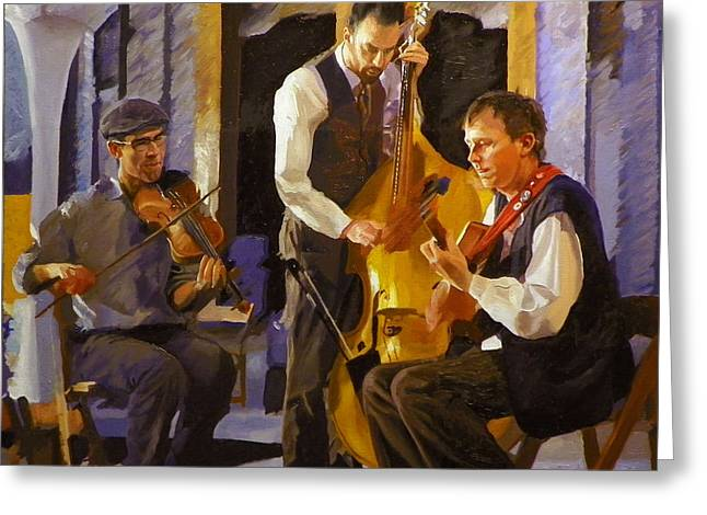 Russet Greeting Cards - The Russet Trio Greeting Card by Kenneth Young