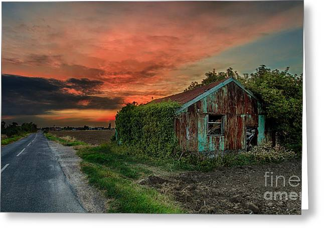 Pete Reynolds Greeting Cards - The Rustic Barn Greeting Card by Pete Reynolds