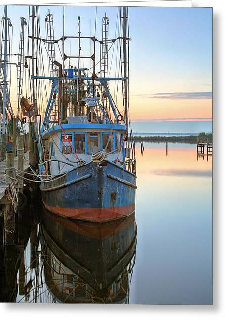 Florida Panhandle Greeting Cards - The Rusty Shrimper Greeting Card by JC Findley