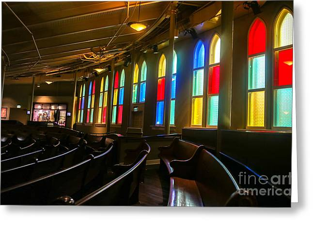 Recently Sold -  - Nashville Tennessee Greeting Cards - The Ryman Auditorium Greeting Card by John Roberts
