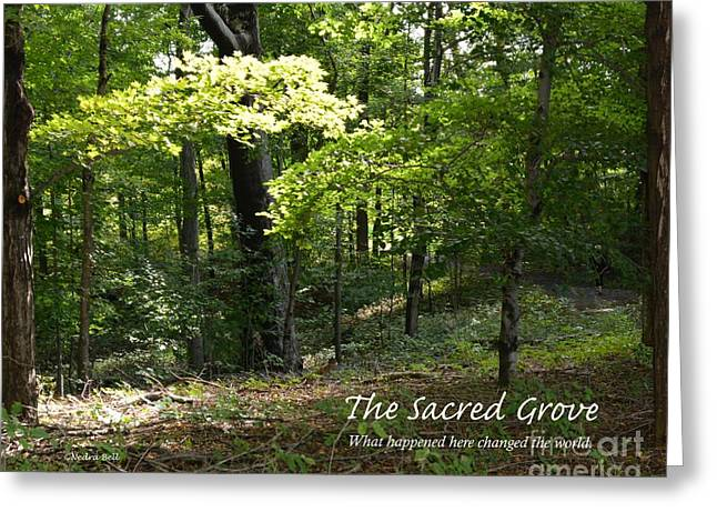 Sacred Grove Greeting Cards - The Sacred Grove II Greeting Card by Nedra Bell