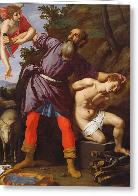 Isaac Greeting Cards - The Sacrifice of Abraham Greeting Card by Cristofano Allori