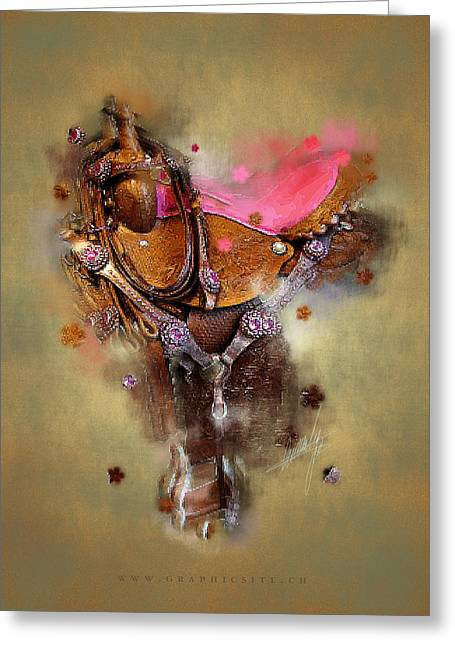 Saddle Digital Art Greeting Cards - The Saddle II Greeting Card by Graphicsite Luzern