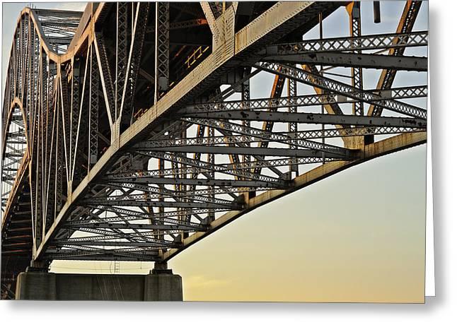 The Sagamore Bridge Greeting Card by Luke Moore