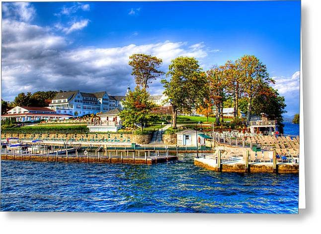 Aderondacks Greeting Cards - The Sagamore Hotel on Lake George Greeting Card by David Patterson