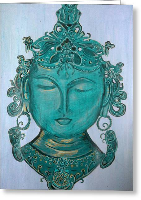 Reverence Greeting Cards - The Sage Greeting Card by Karunita Kapoor