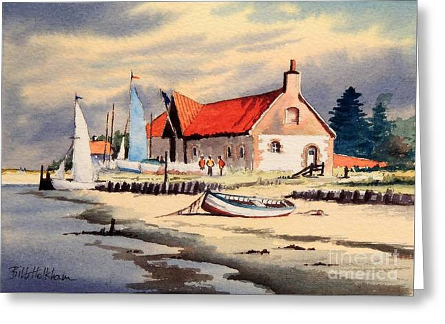 Ocean Sailing Greeting Cards - The Sailing Club  Greeting Card by Bill Holkham
