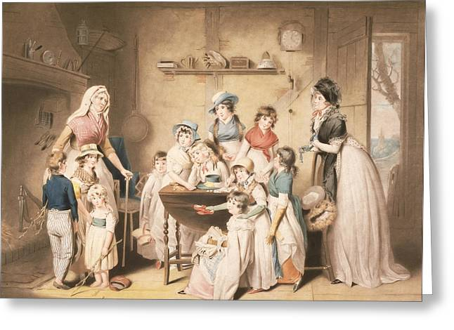 The Sailors Orphans, Or The Young Greeting Card by William Redmore Bigg