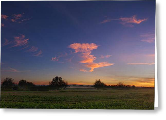 Himmel Greeting Cards - The salmon hour Greeting Card by Philippe Meisburger