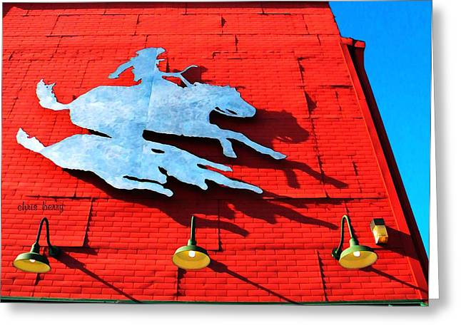 Bold Contrast Greeting Cards - The Saloon Greeting Card by Chris Berry