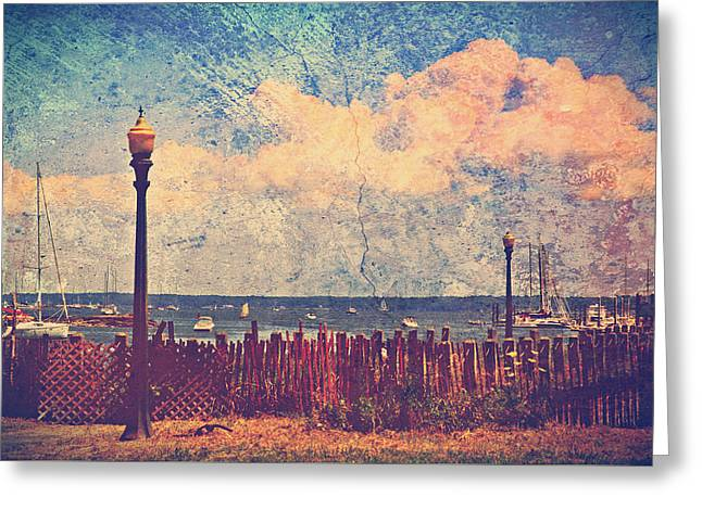 Digital Art Greeting Cards - The Salty Air Sea Breeze In Her Hair IV Greeting Card by Aurelio Zucco
