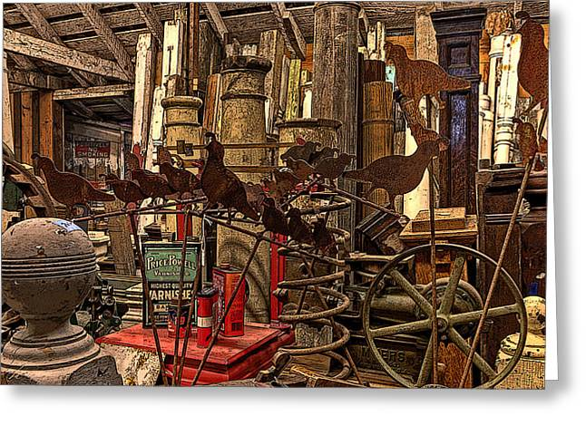 Digital Photography Greeting Cards - The Salvage Room Greeting Card by Thom Zehrfeld