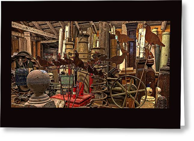 Art Galleries Greeting Cards - The Salvage Room Greeting Card by Thom Zehrfeld