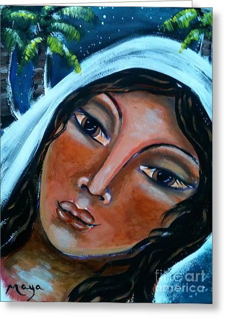 The Samaritan Woman Greeting Card by Maya Telford